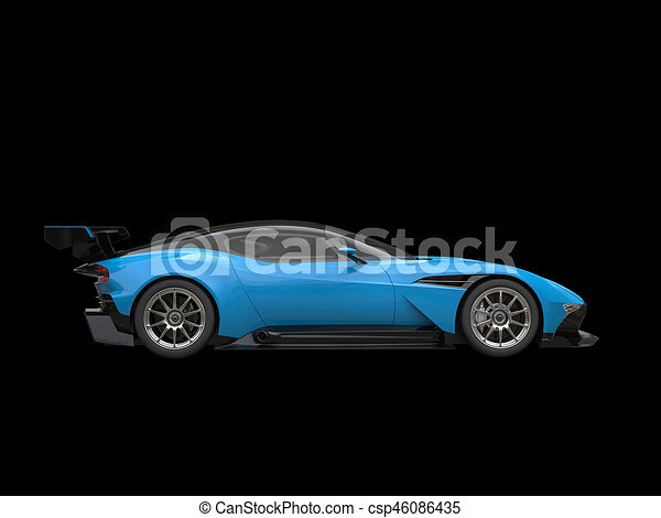 Light Sky Blue Awesome Modern Race Car