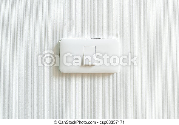 light switch on wall - csp63357171