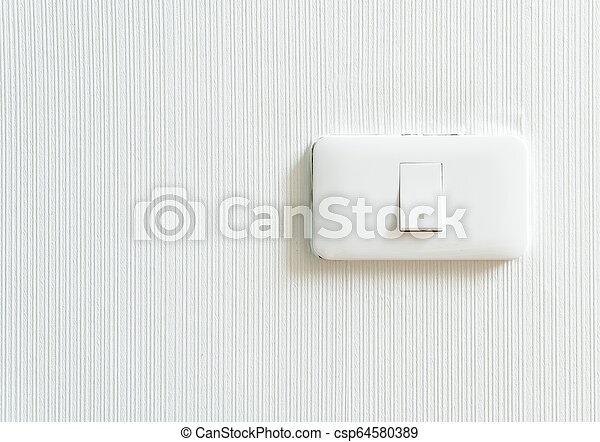 light switch on wall - csp64580389