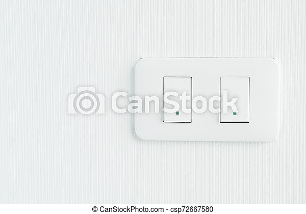 light switch on wall - csp72667580