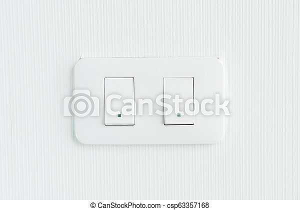light switch on wall - csp63357168