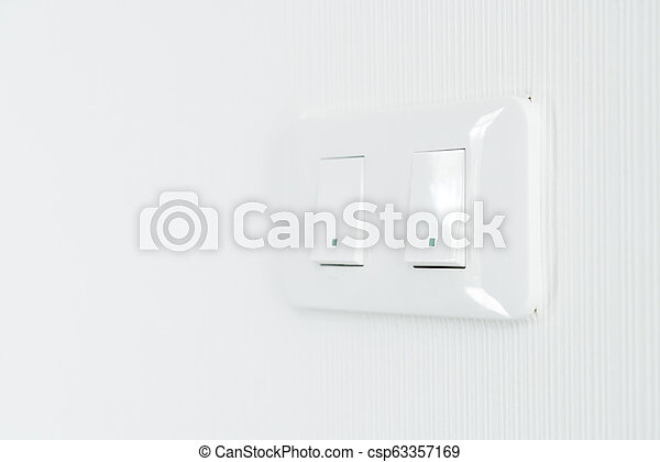 light switch on wall - csp63357169