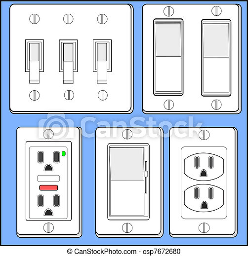 light switch clipart. light switches and plugins csp7672680 switch clipart
