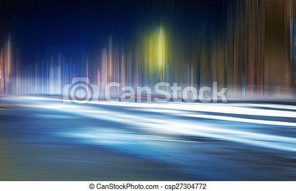 Light trails on a city - csp27304772
