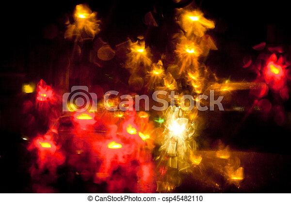Light trails on a city street at night - csp45482110