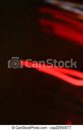 Light trails on black background - csp22550077