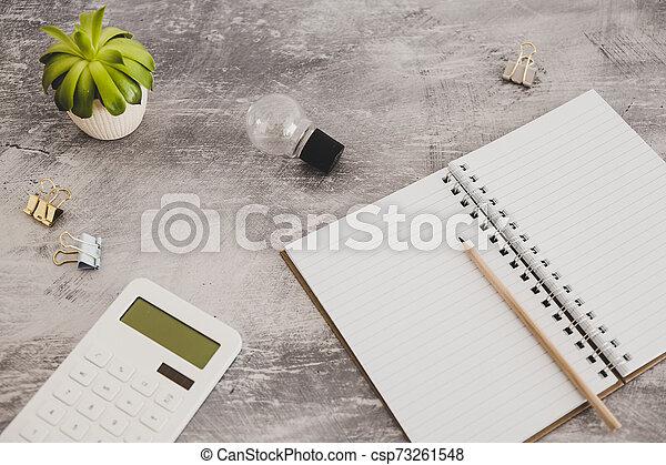 lightbulb, concept, business, articles, travail, idées, bureau, papeterie - csp73261548