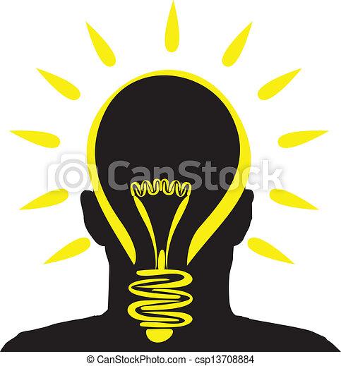 lightbulb, idée - csp13708884