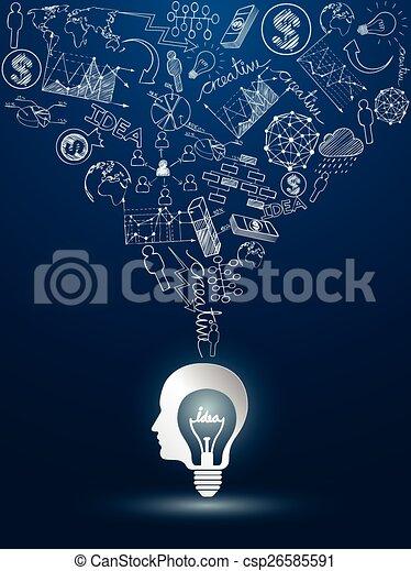 lightbulb, idées - csp26585591