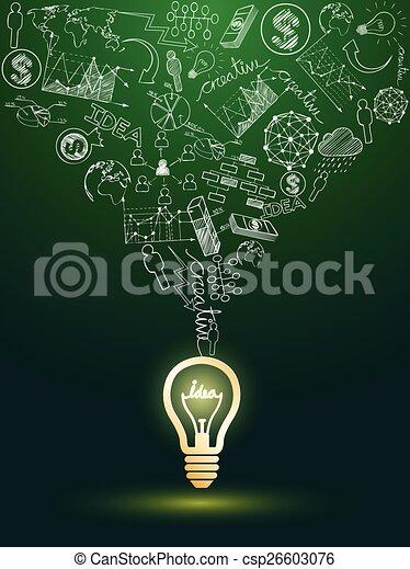 lightbulb, idées - csp26603076