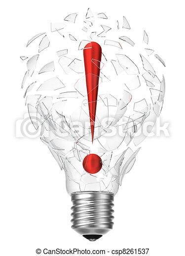 lightbulb idea exclamation point - csp8261537
