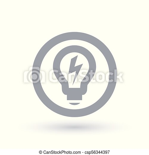 Lightbulb, macht, elektrizität, licht, energie, symbol., icon ...