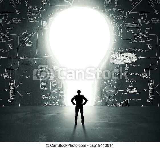 lightbulb, porte - csp19410814