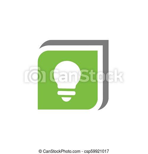 Lightbulb Symbol In Green Box, Vector Illustration Design