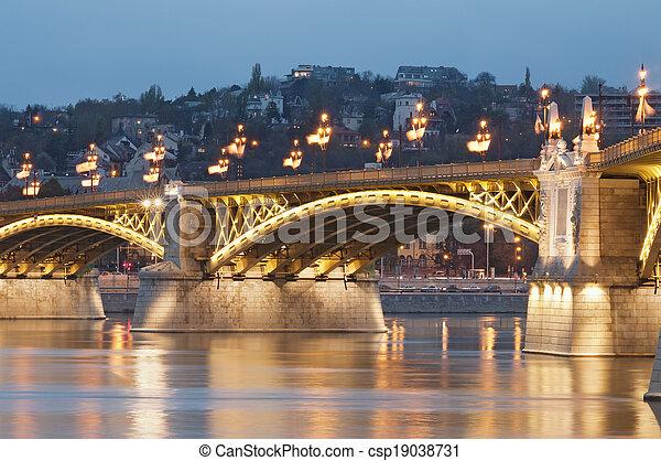 Lighted bridge detail - csp19038731