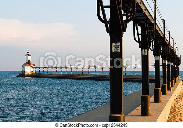 Lighthouse and Catwalk - csp12544243