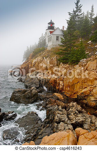 Lighthouse at Bass Harbor - csp4616243