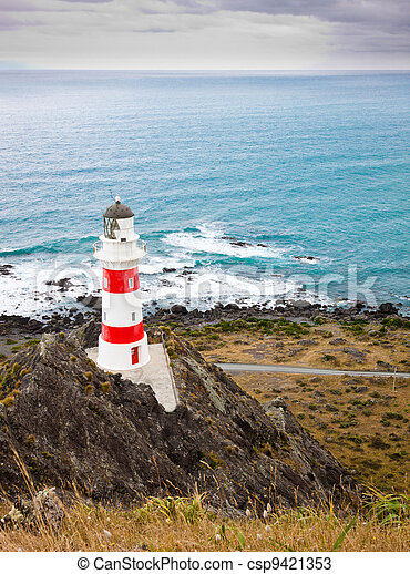 Lighthouse at Cape Palliser, New Zealand - csp9421353