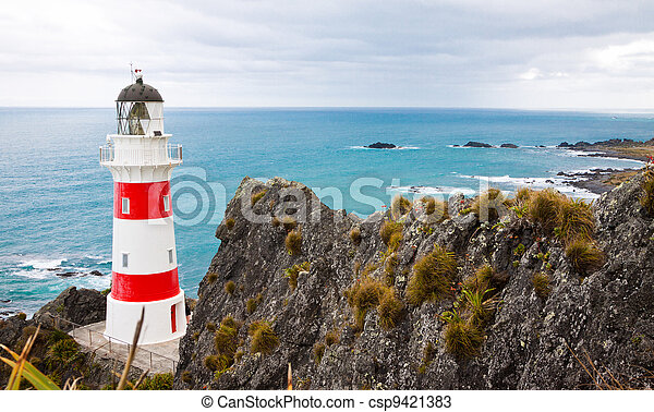 Lighthouse at Cape Palliser, New Zealand - csp9421383