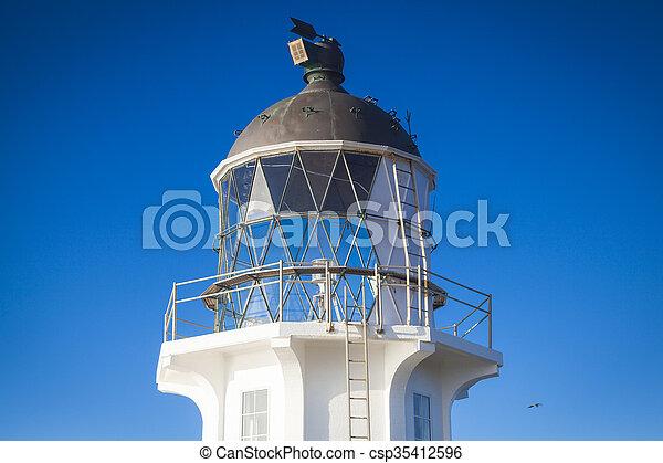 Lighthouse at Cape Reinga New Zealand - csp35412596