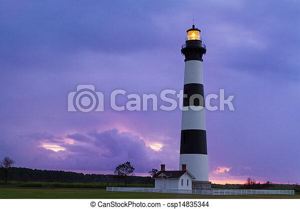 Lighthouse at Dawn - csp14835344