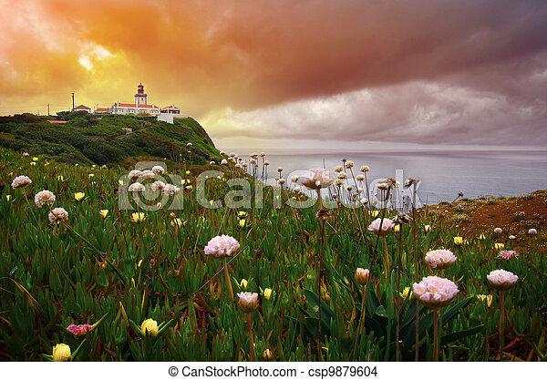 Lighthouse at Dawn - csp9879604