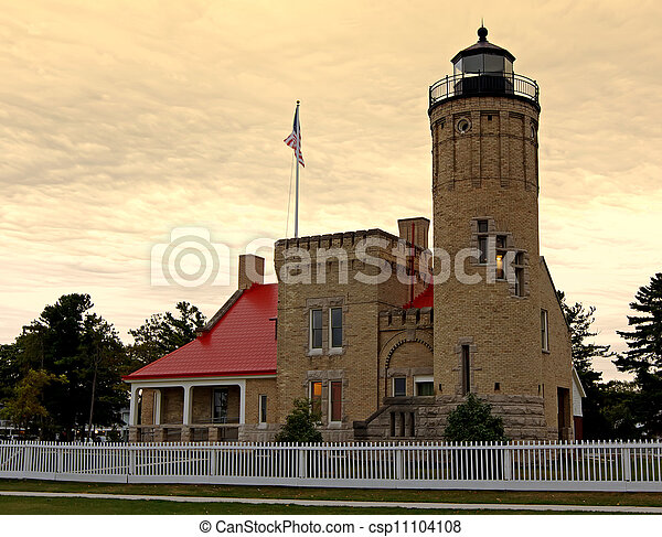 Lighthouse at Sunrise - csp11104108