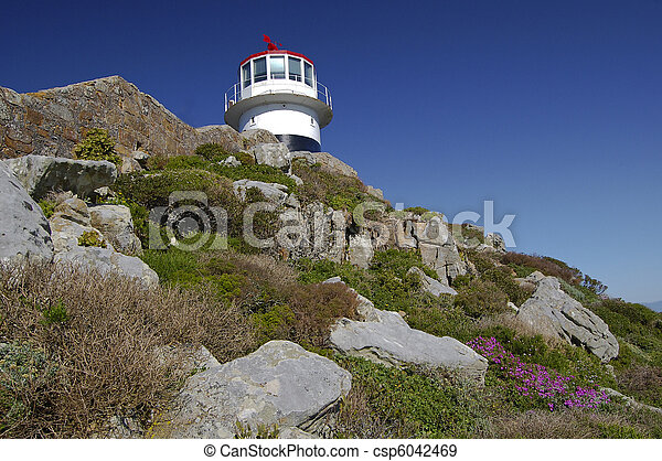 Lighthouse at the Cape of Good Hope in South Africa - csp6042469
