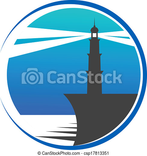 Lighthouse button or icon - csp17813351