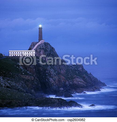 lighthouse, Cabo Vil�n, Galicia, Spain - csp2604982