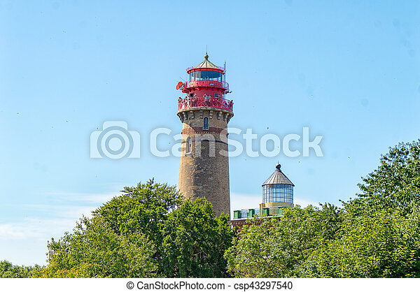 Lighthouse Cape Arkona in Ruegen - csp43297540