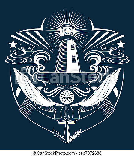Lighthouse Crest - csp7872688