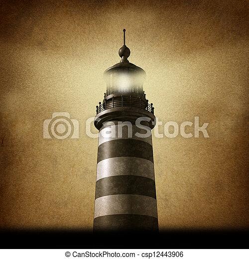 Lighthouse Grunge - csp12443906