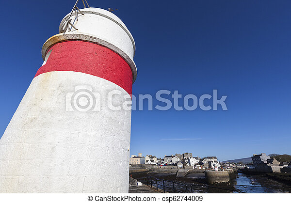 Lighthouse in Castletown, Isle of Man - csp62744009