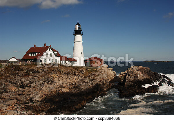 lighthouse in daytime - csp3694066