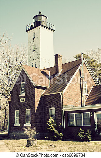 Lighthouse in Erie - csp6699734
