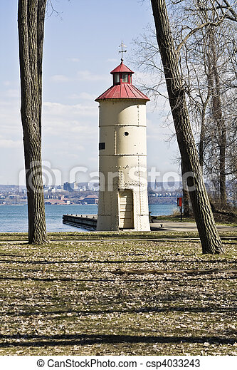 Lighthouse in Erie - csp4033243