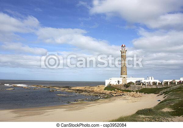 Lighthouse in Jose Ignacio - csp3952084