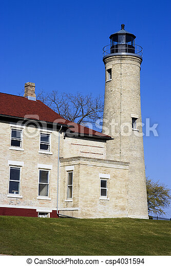 Lighthouse in Kenosha - csp4031594