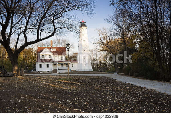 Lighthouse in Milwaukee - csp4032936
