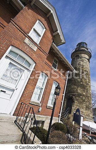 Lighthouse in Ohio - csp4033328