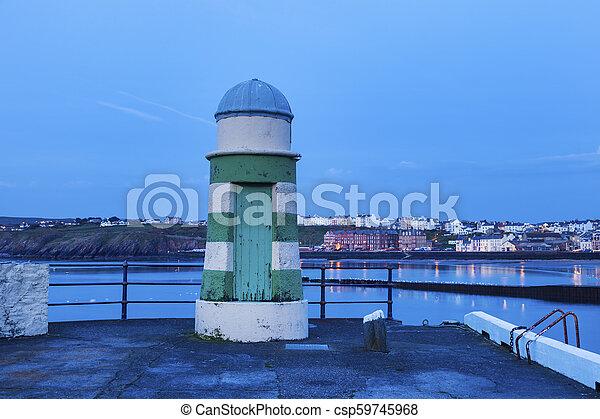 Lighthouse in Peel - csp59745968