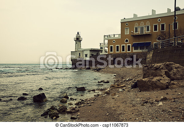 Lighthouse in Tyre - csp11067873