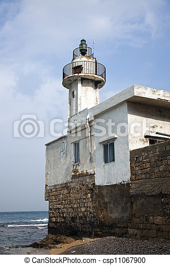 Lighthouse in Tyre - csp11067900