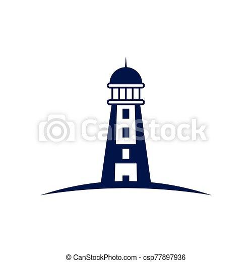 Lighthouse logo design template vector - csp77897936