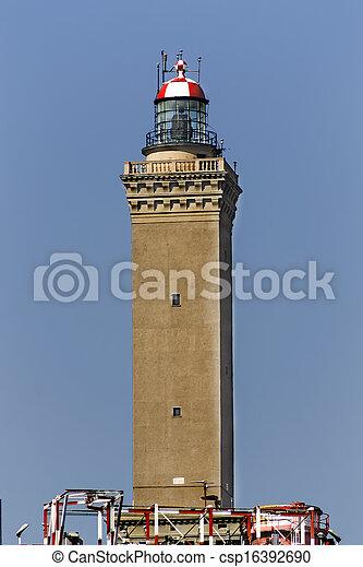 lighthouse of Genoa - csp16392690