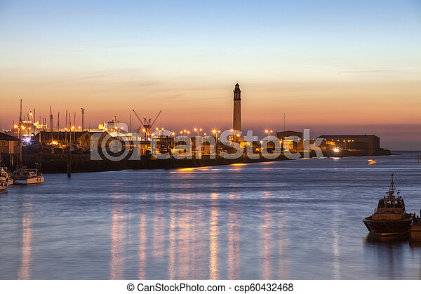 Lighthouse of Risban in Dunkirk - csp60432468