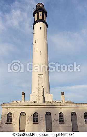 Lighthouse of Risban in Dunkirk - csp64658734