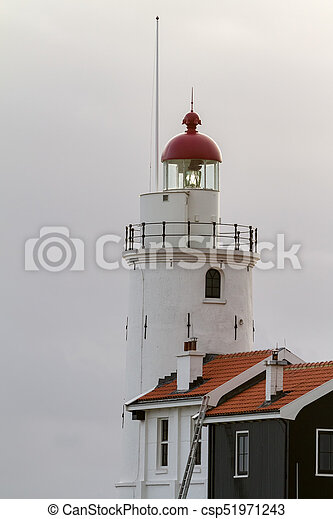 lighthouse on a cloudy day - csp51971243