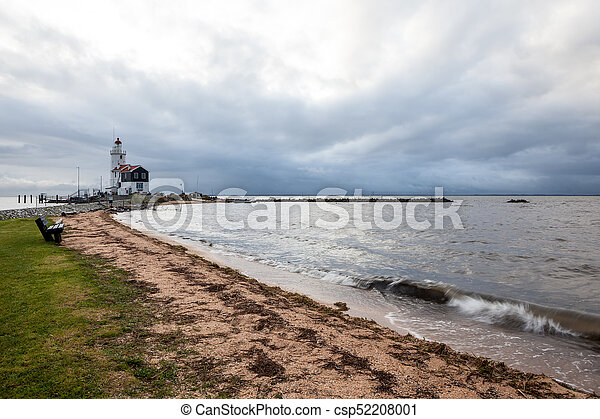 lighthouse on a cloudy day - csp52208001
